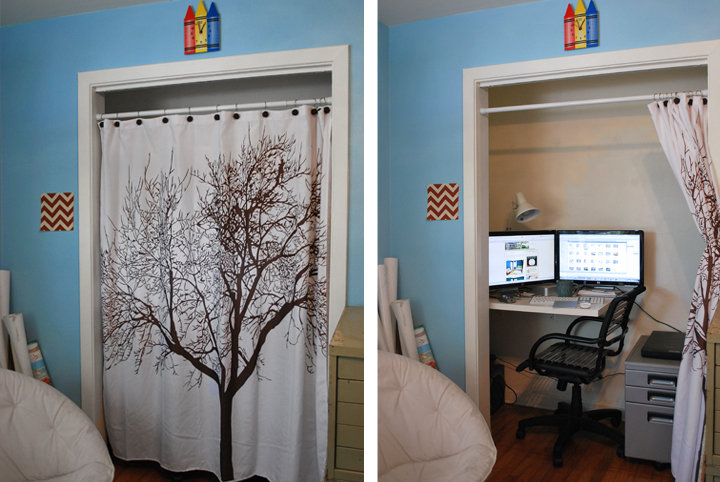 closet to office. As I Mentioned, We\u0027ve Been Working On The Closet Office Recently. In Photos Above You\u0027ll Notice Desk Surface We Were With Was Quite Small To